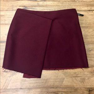 TopShop Maroon Envelope Skirt